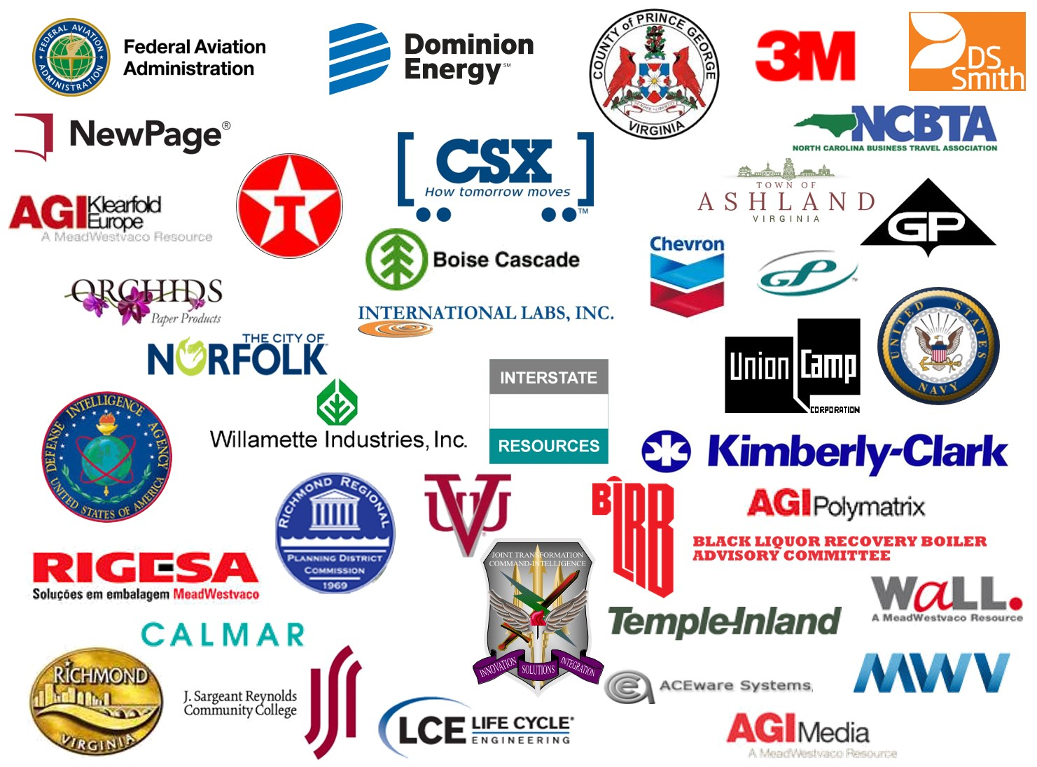 Some of the companies I've had the pleasure of working with over the years