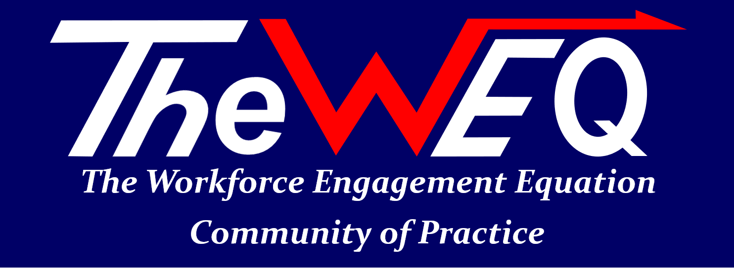 TheWEQ Community of Practice Banner Spelled Out
